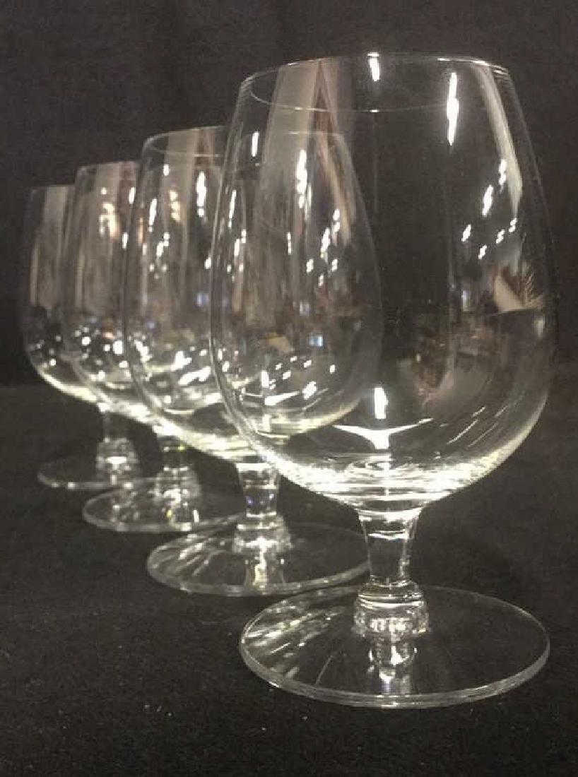 Lot 4 Short Stem Crystal Water Glasses - 4