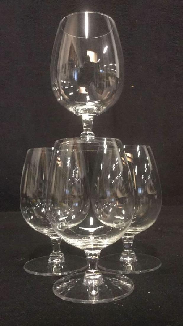 Lot 4 Short Stem Crystal Water Glasses - 5