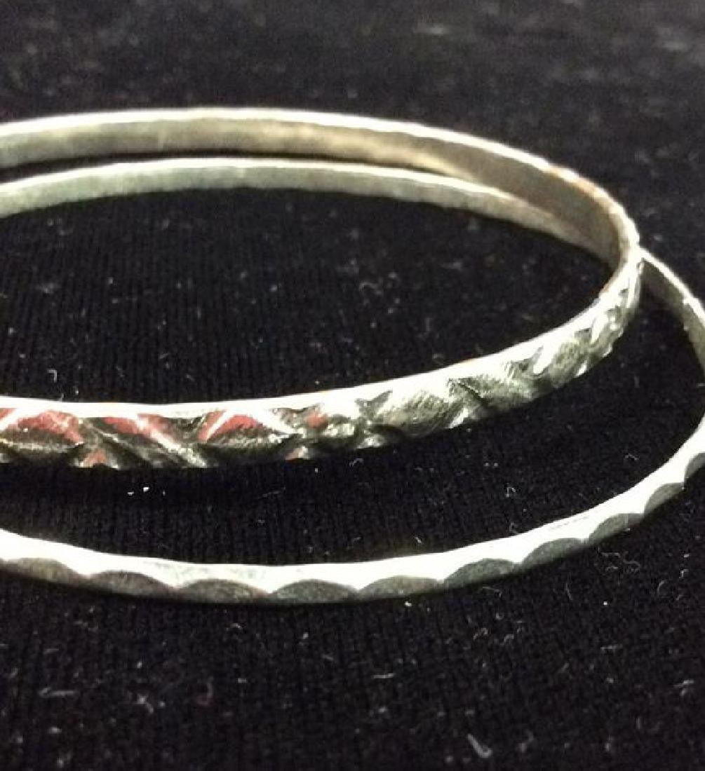 Lot 13 Silver Toned Metal Bangle Bracelets - 6
