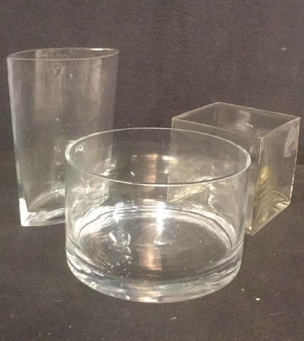 Lot 3 Glass Table Top Accessories