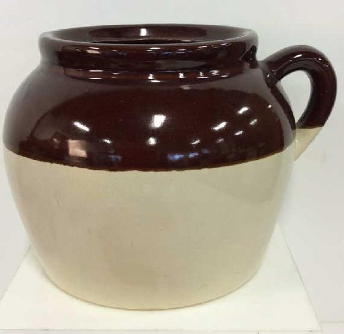 Two Toned Glazed Ceramic Jug, USA