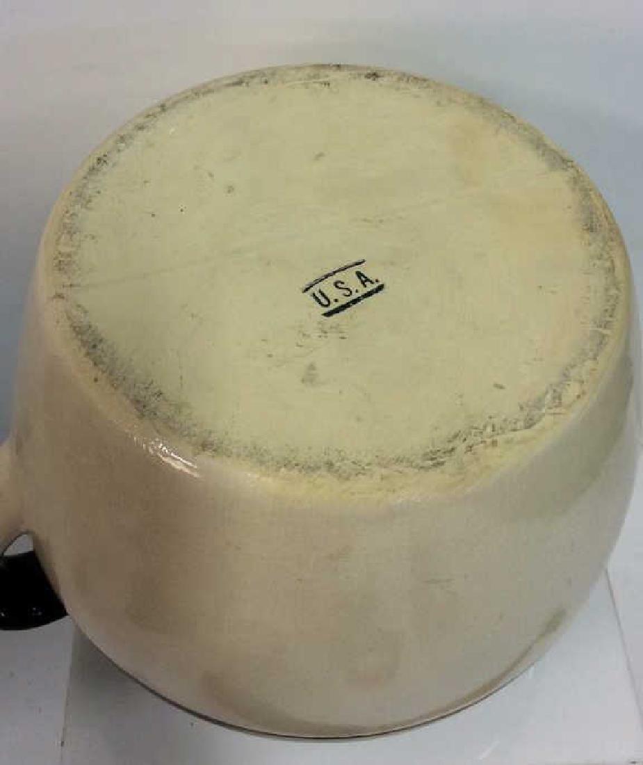 Two Toned Glazed Ceramic Jug, USA - 7