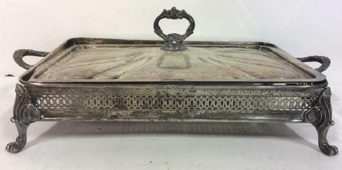Lot 5 Silver Plated Ornate Tabletop Accessories - 2