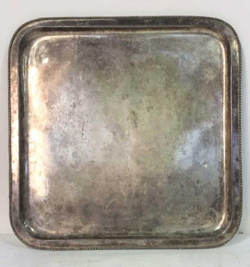 Lot 5 Silver Plated Ornate Tabletop Accessories - 4