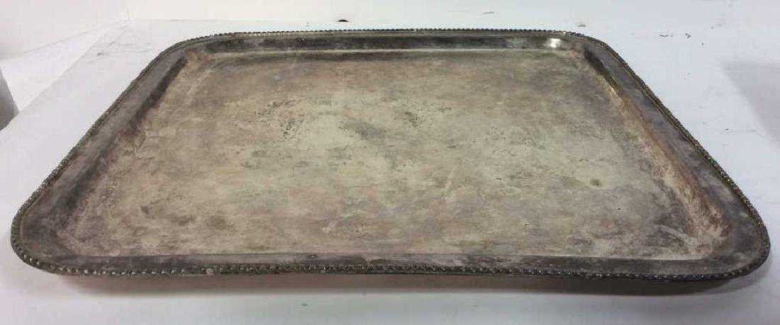 Lot 5 Silver Plated Ornate Tabletop Accessories - 5
