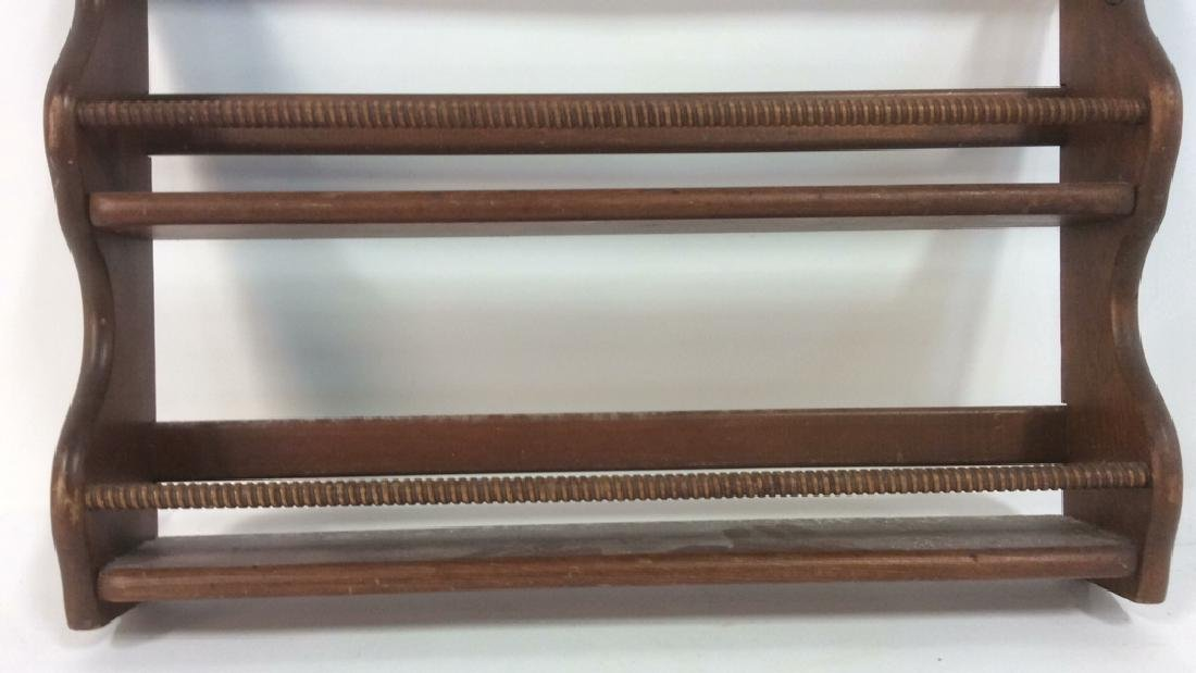 Brown Toned Painted Wooden Spice Rack - 4