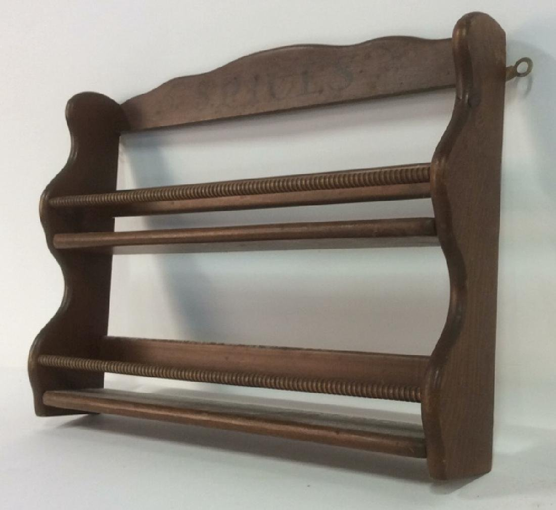 Brown Toned Painted Wooden Spice Rack - 5