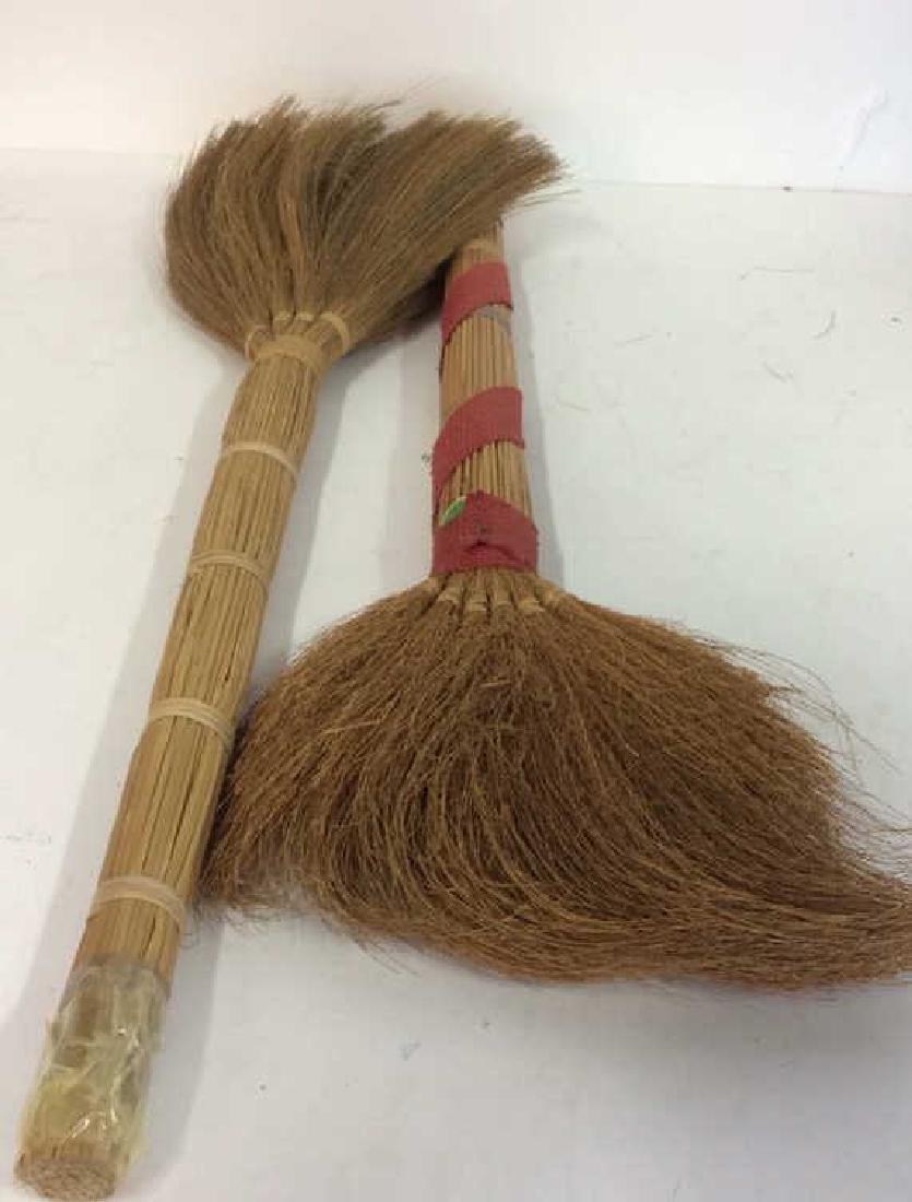 Lot 2 Decorative Wicker Brooms - 5
