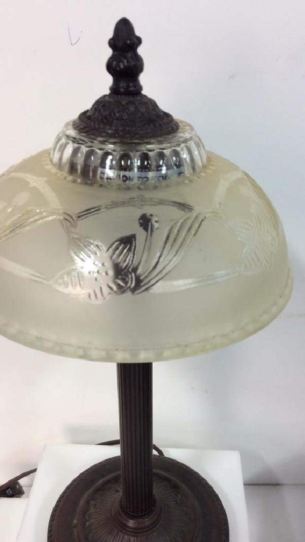Desk Top Lamp W Frosted Glass Shade - 2