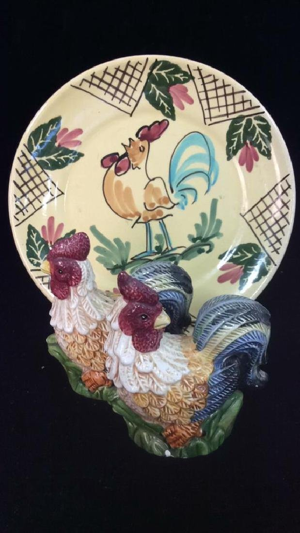 Lot 3 Assorted Porcelain Tabletop Accessories