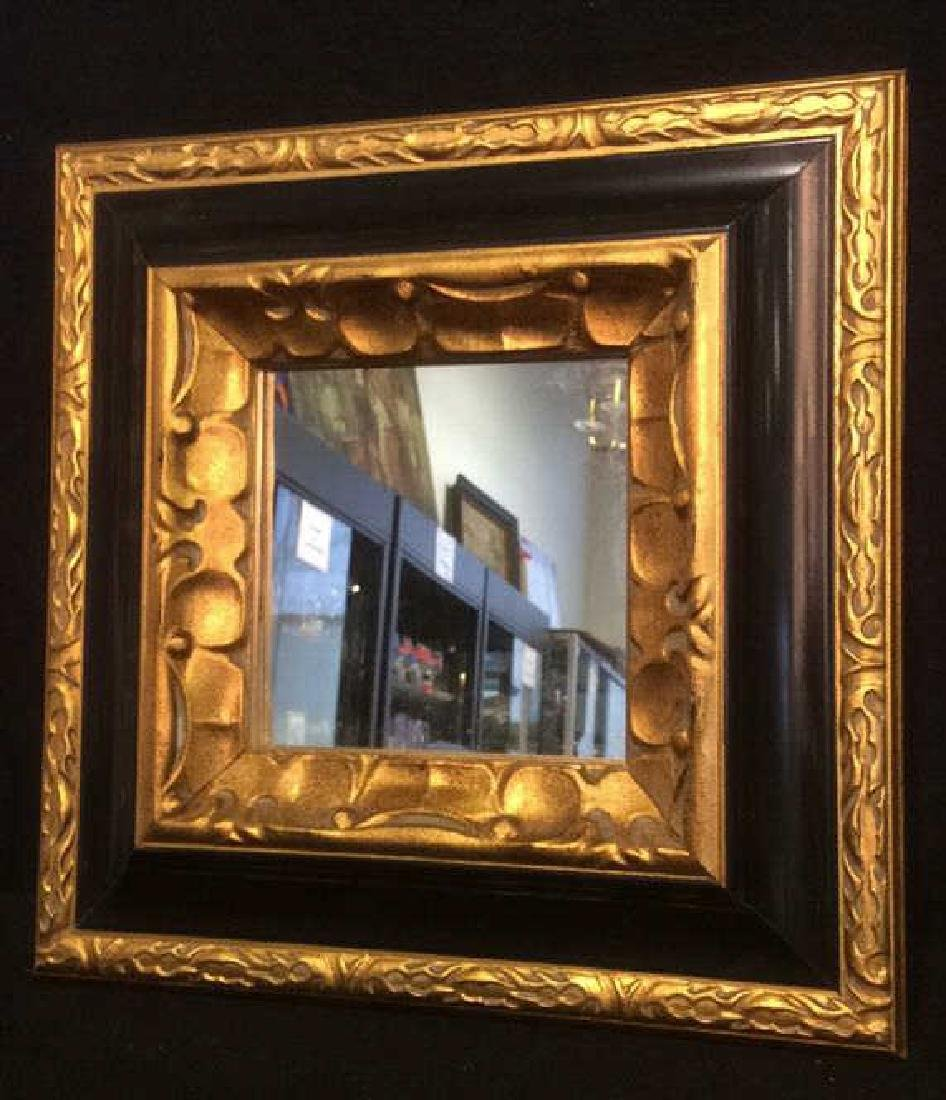 Gold & Black Tone Framed Mirror