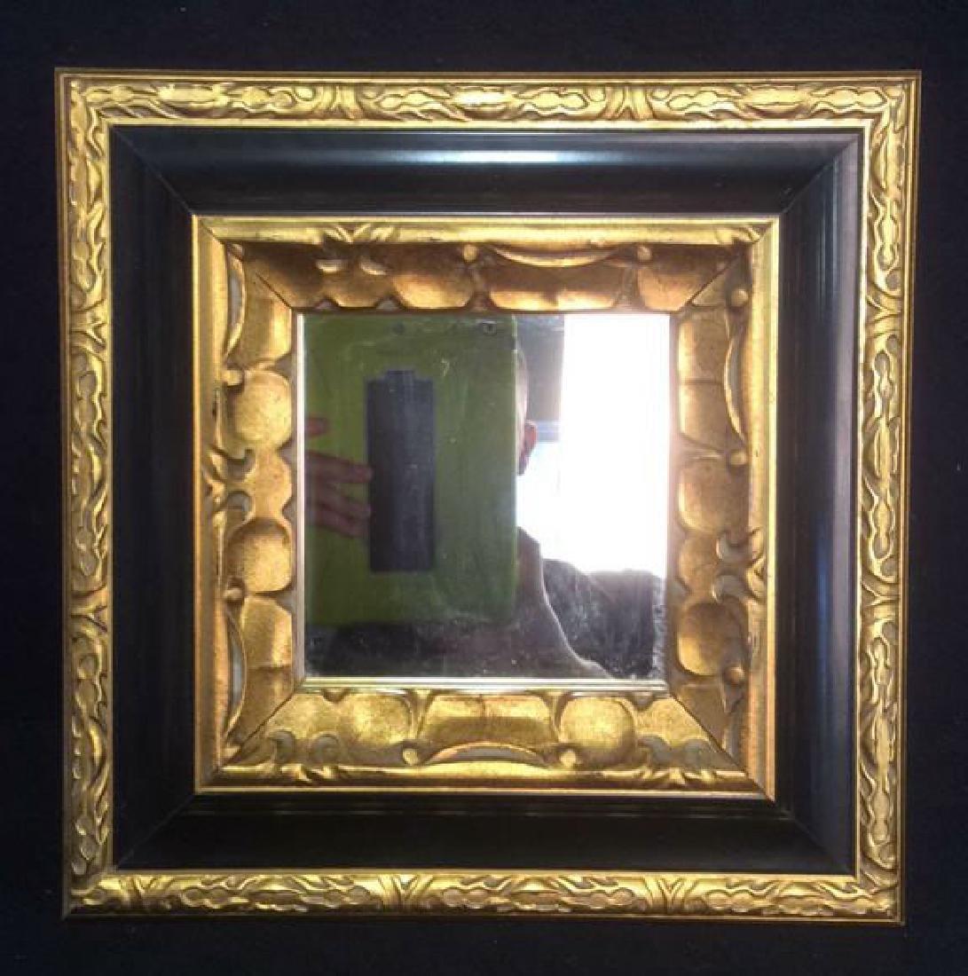 Gold & Black Tone Framed Mirror - 5