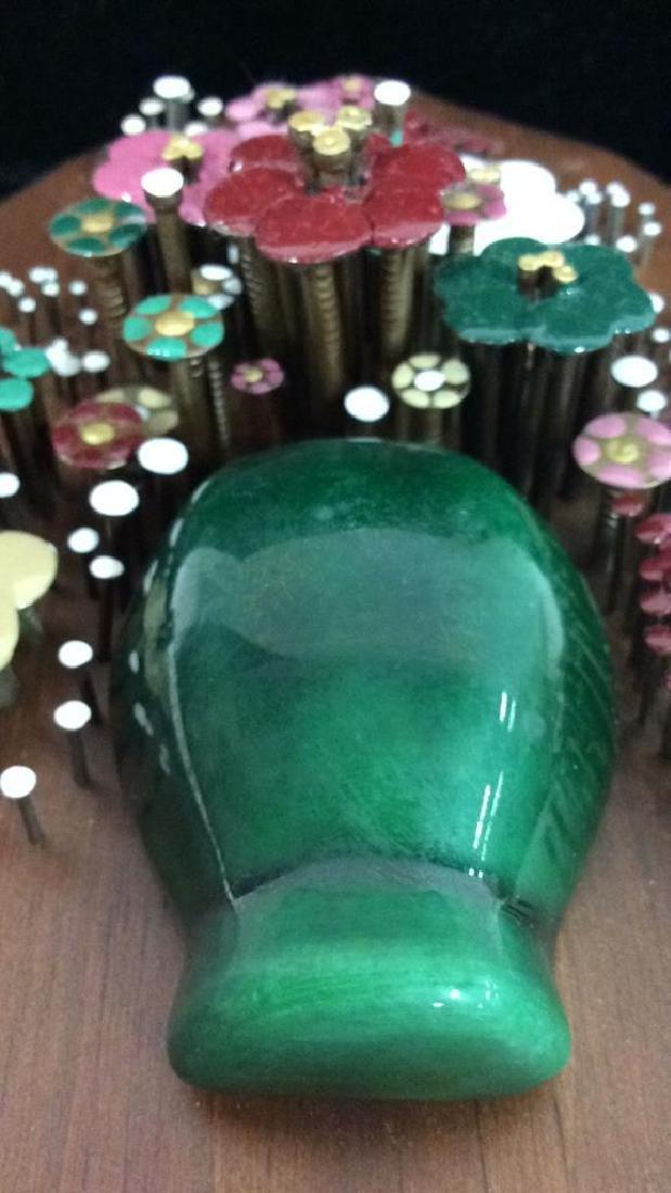 Pauline A. Owens Vintage Flower Vase Nail Art - 6