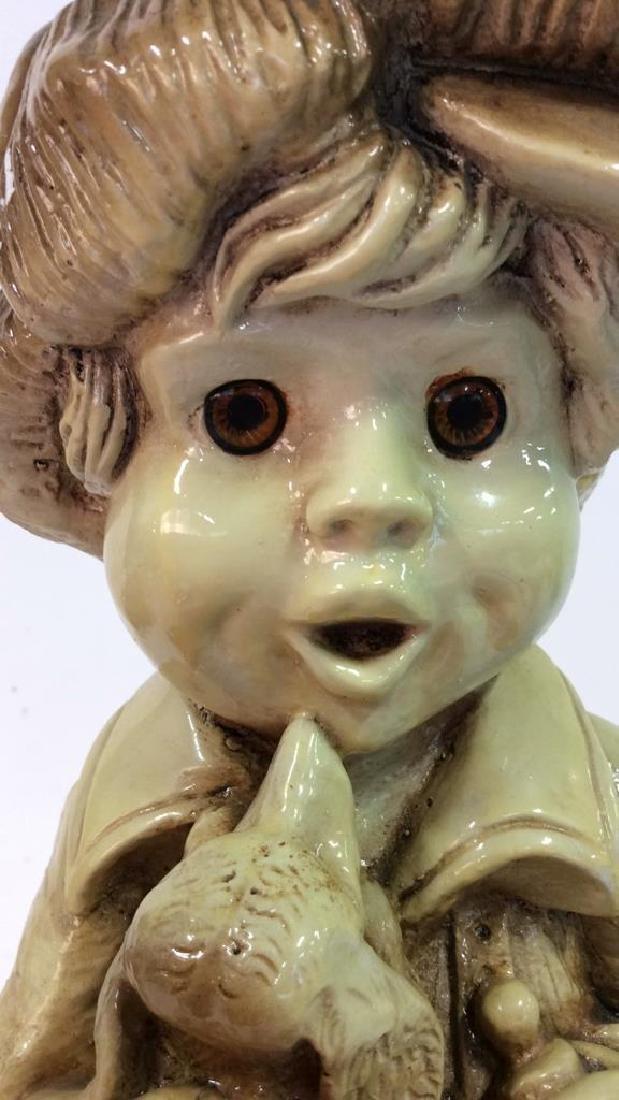 Garden Statue Boy W Dog - 2