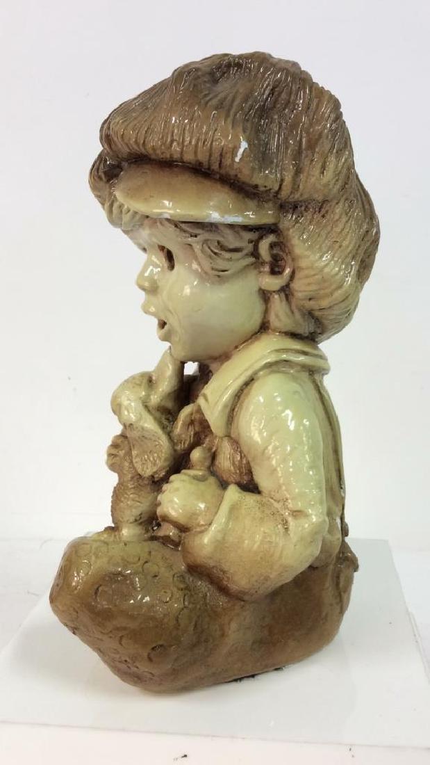 Garden Statue Boy W Dog - 3