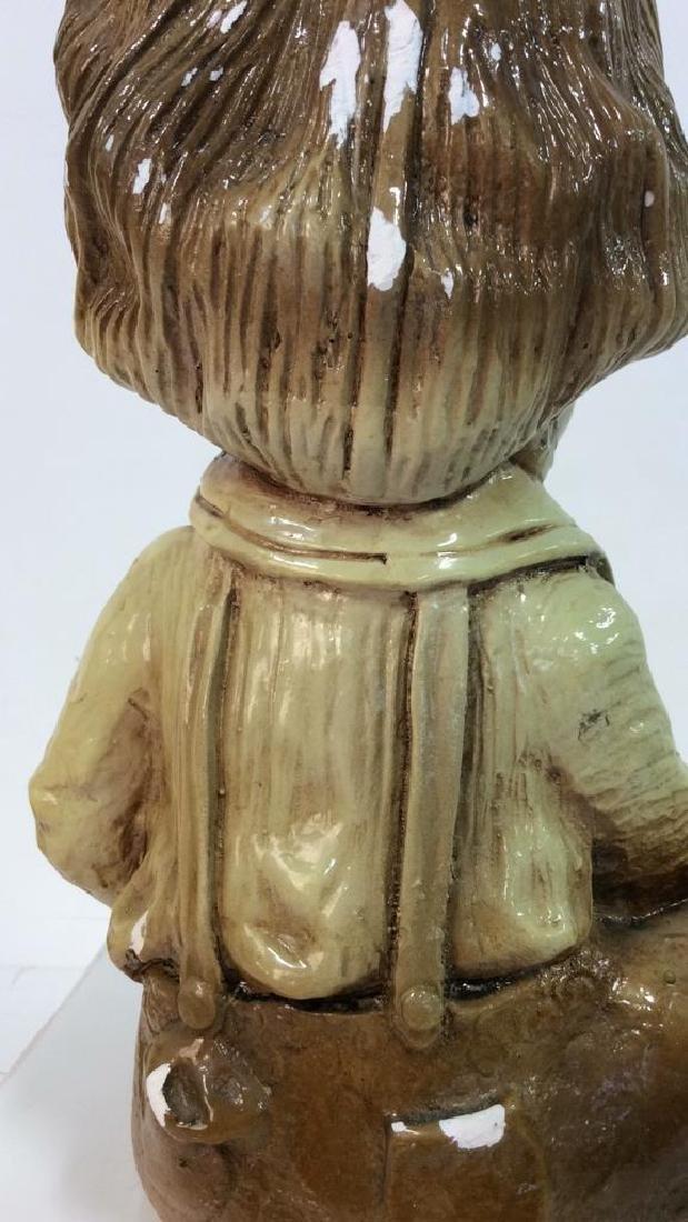 Garden Statue Boy W Dog - 5
