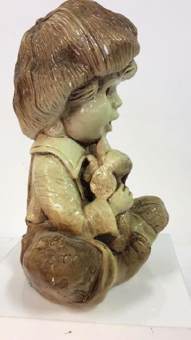 Garden Statue Boy W Dog - 6