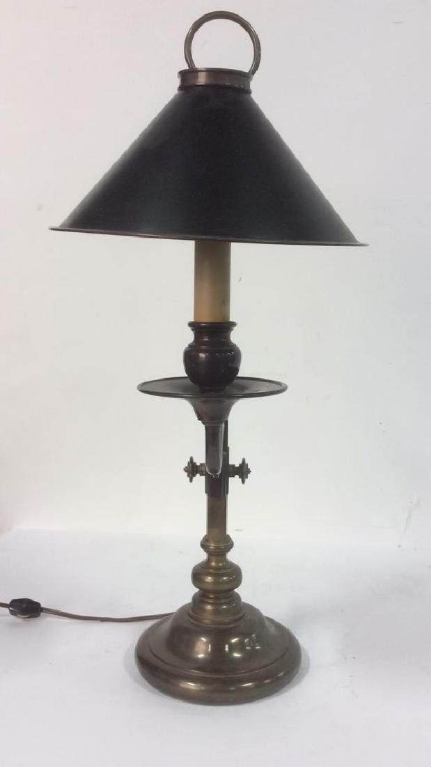 CHAPMAN 1982 Brass Candlestick Lamp - 3