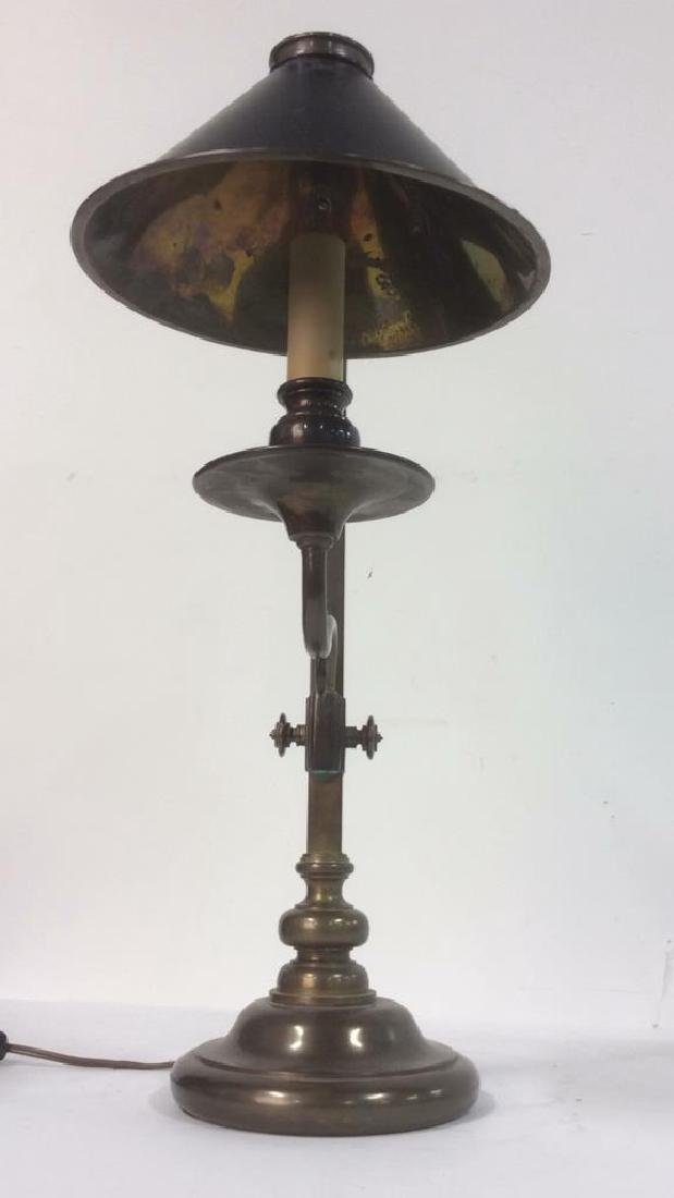 CHAPMAN 1982 Brass Candlestick Lamp - 4