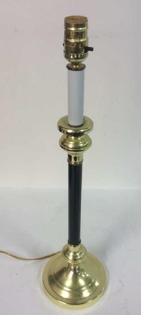 Candlestick Style Brass Detailed Lamp - 4