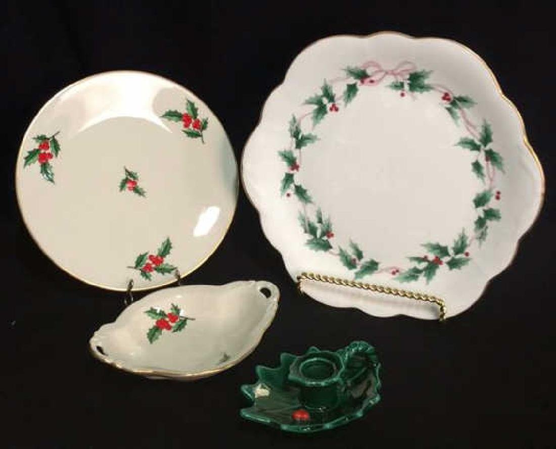 Lot 4 Holly Fine China Table Top Accessories