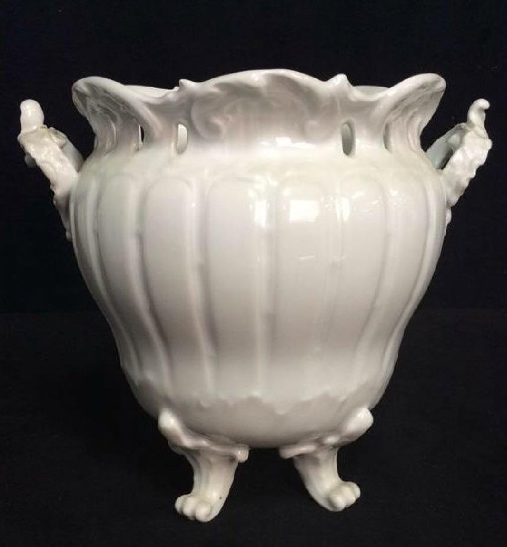 LIMOGE Footed Porcelain Planter - 4