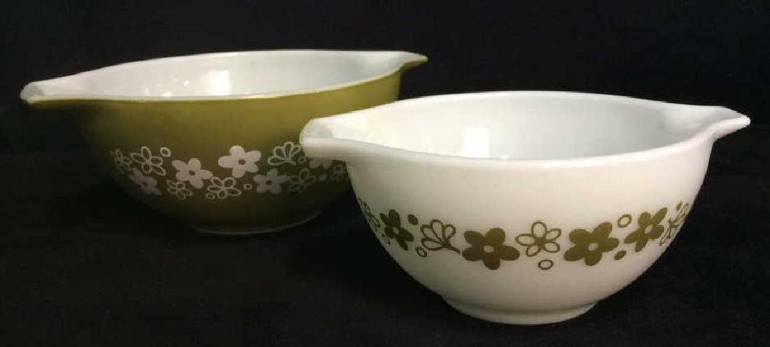 Pair Pyrex Glass Mixing Bowls