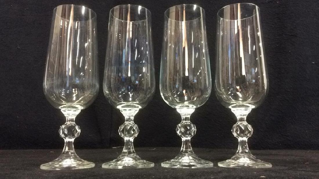Set 4 Cut Crystal Champagne Flutes - 2