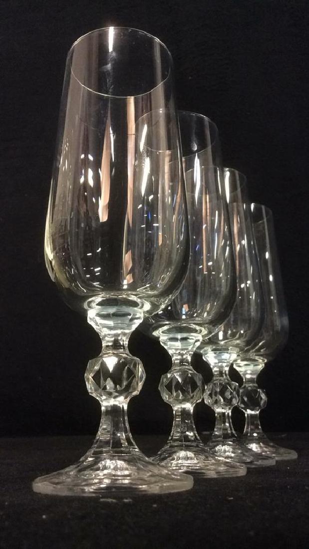 Set 4 Cut Crystal Champagne Flutes - 3