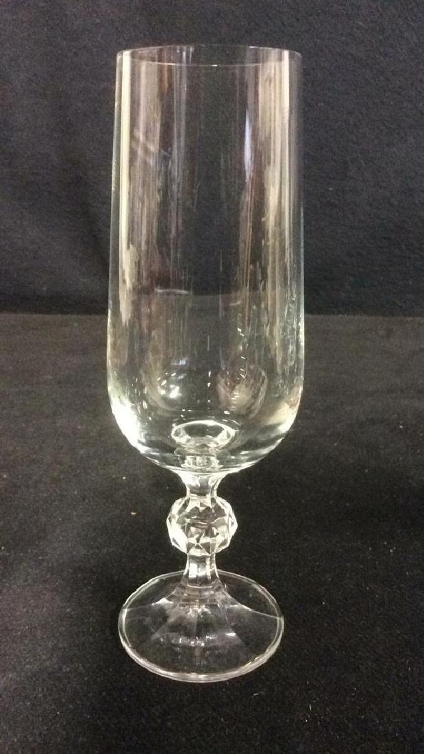 Set 4 Cut Crystal Champagne Flutes - 5