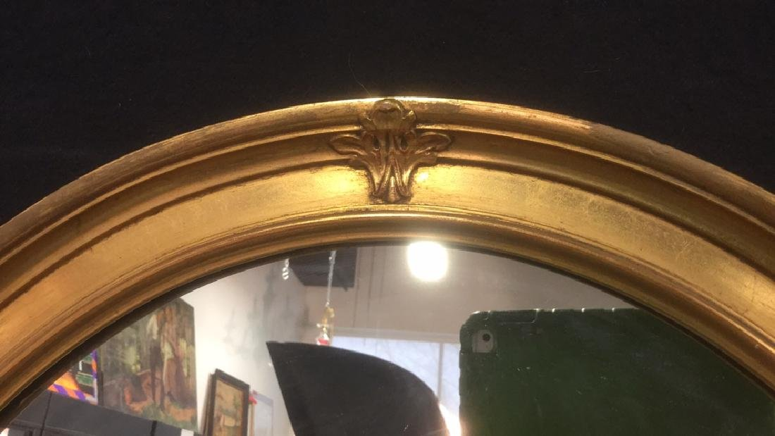 Oval Shaped Gold Toned Wall Mirror - 3