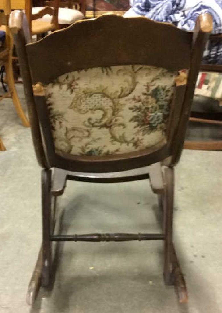 Carved Wooden Cushioned Folding Chair - 4