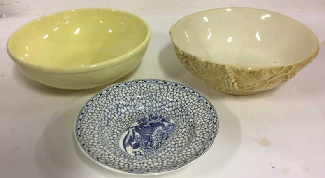 Lot 3 Assorted Ceramic Porcelain Bowl