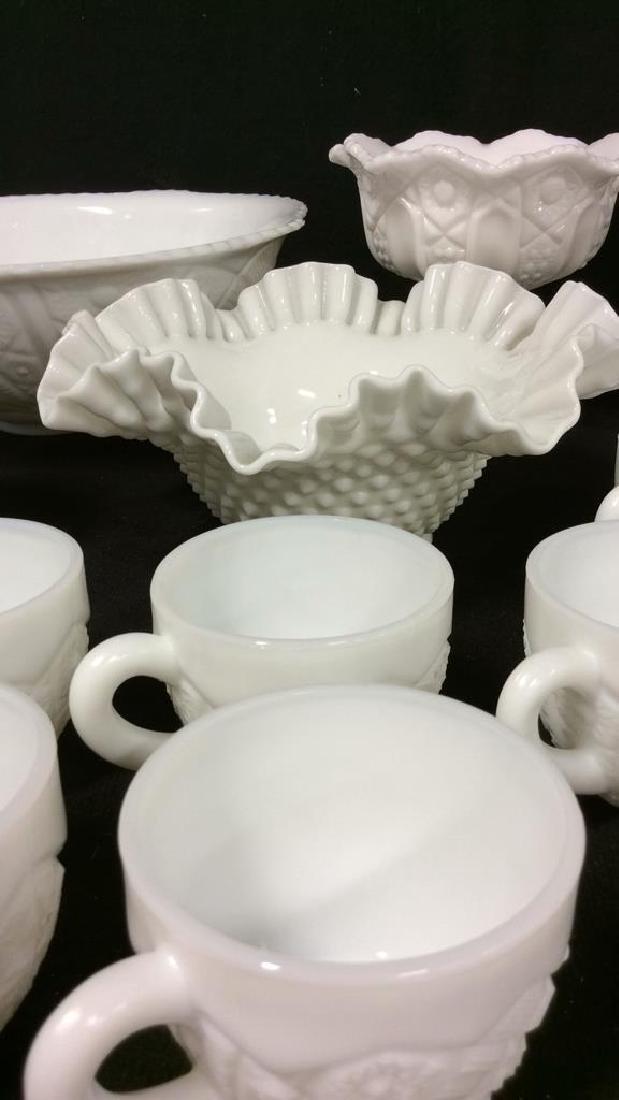 LOT 17 Milk Glass Table TopDish Set - 2