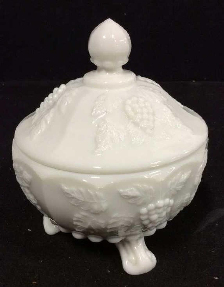 LOT 17 Milk Glass Table TopDish Set - 4
