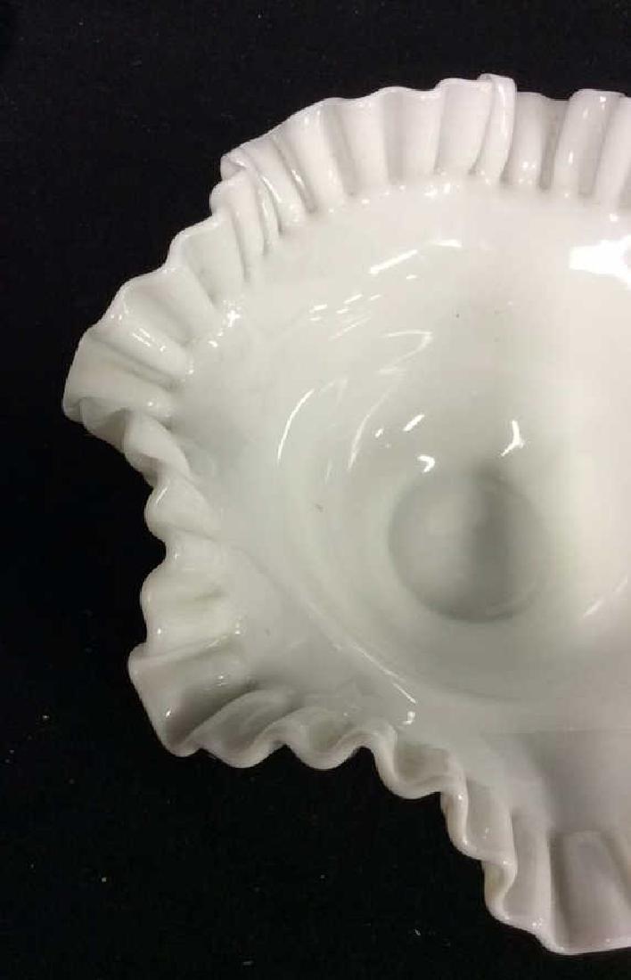 LOT 17 Milk Glass Table TopDish Set - 6