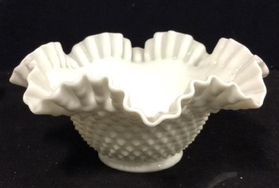 LOT 17 Milk Glass Table TopDish Set - 7