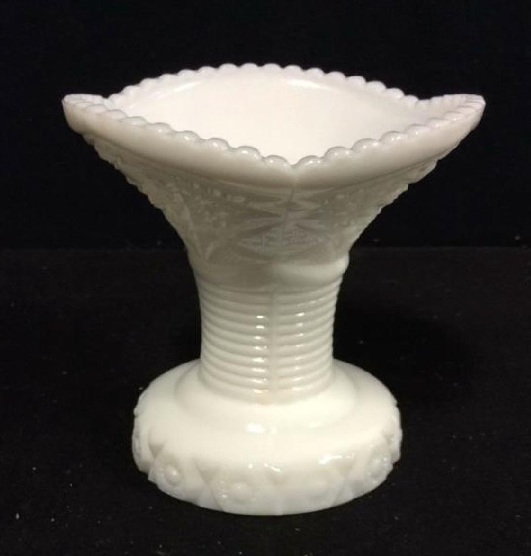 LOT 17 Milk Glass Table TopDish Set - 8