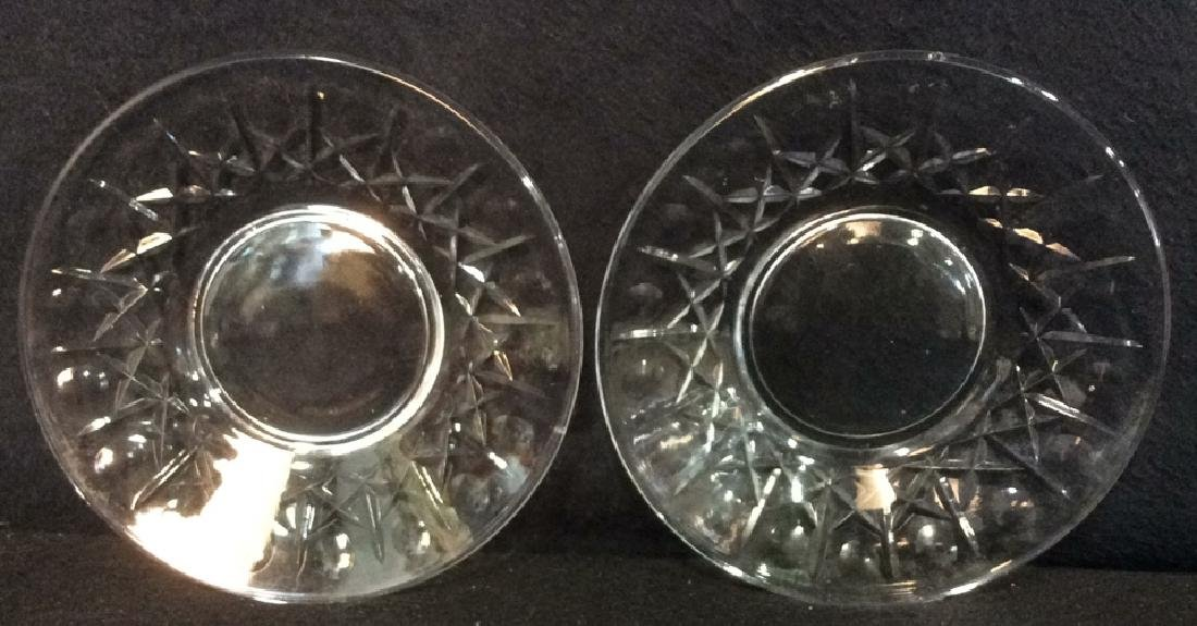 Lot 3 Crystal Ice Bucket & Glass Plates - 4