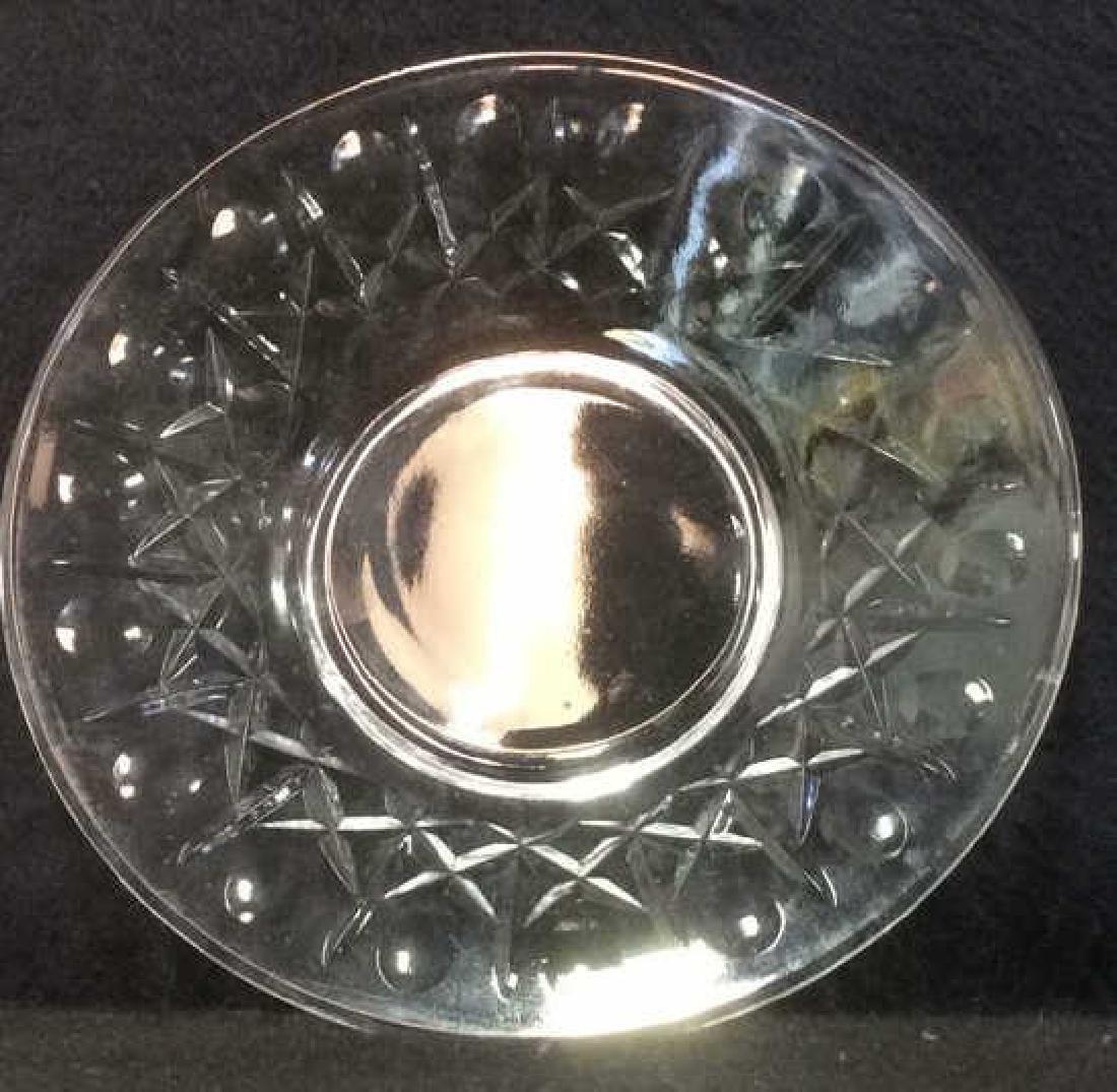 Lot 3 Crystal Ice Bucket & Glass Plates - 5