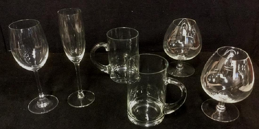 Lot 6 Mixed Crystal And Glass Barware