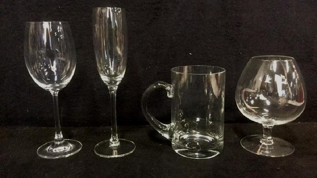 Lot 6 Mixed Crystal And Glass Barware - 2