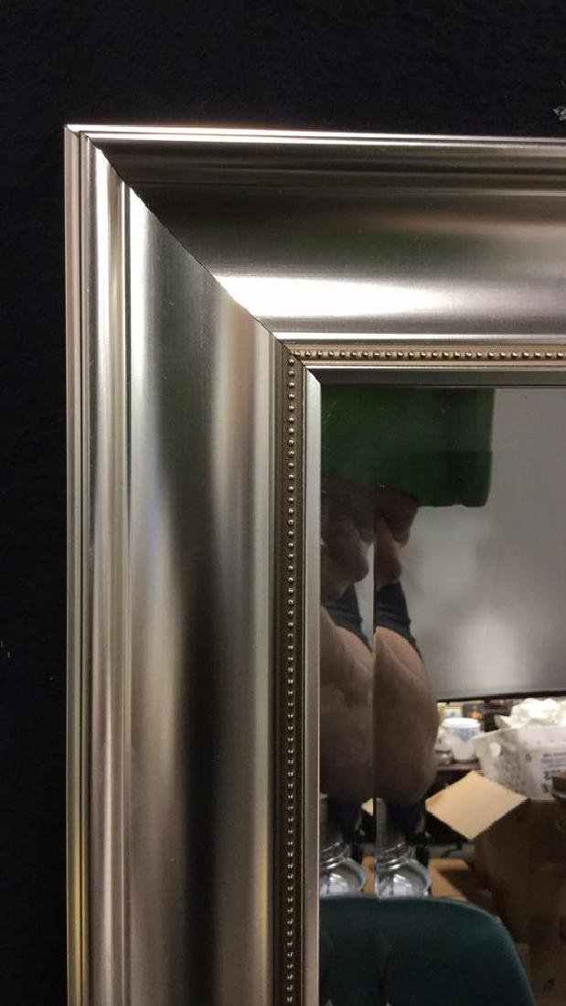 Beveled Mirror With Silver Toned Fram - 4