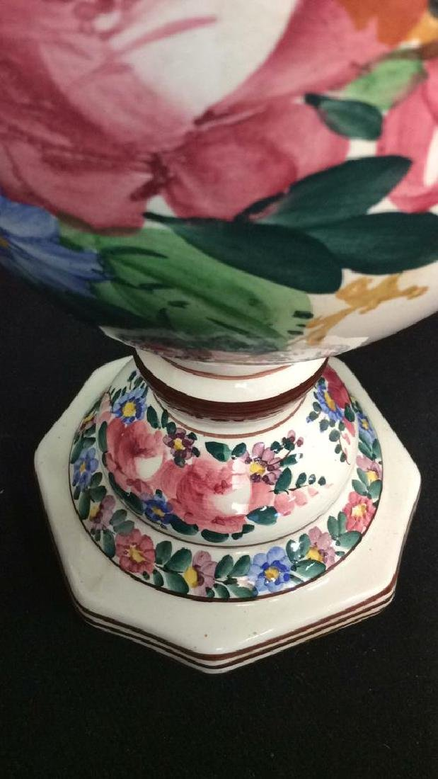 Brightly Painted Porcelain Floral Lamp, Hungary - 6