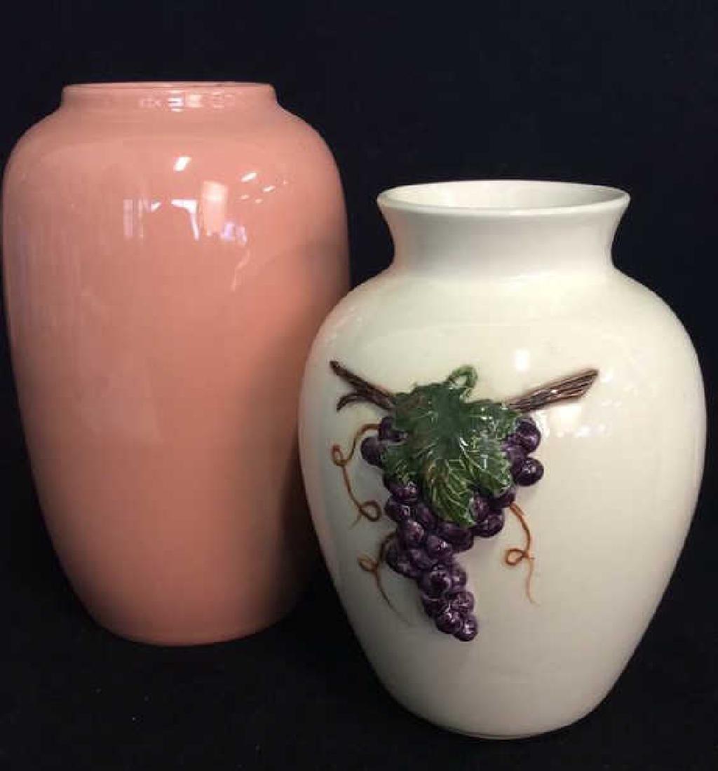 Lot 2 Porcelain Planter Vases