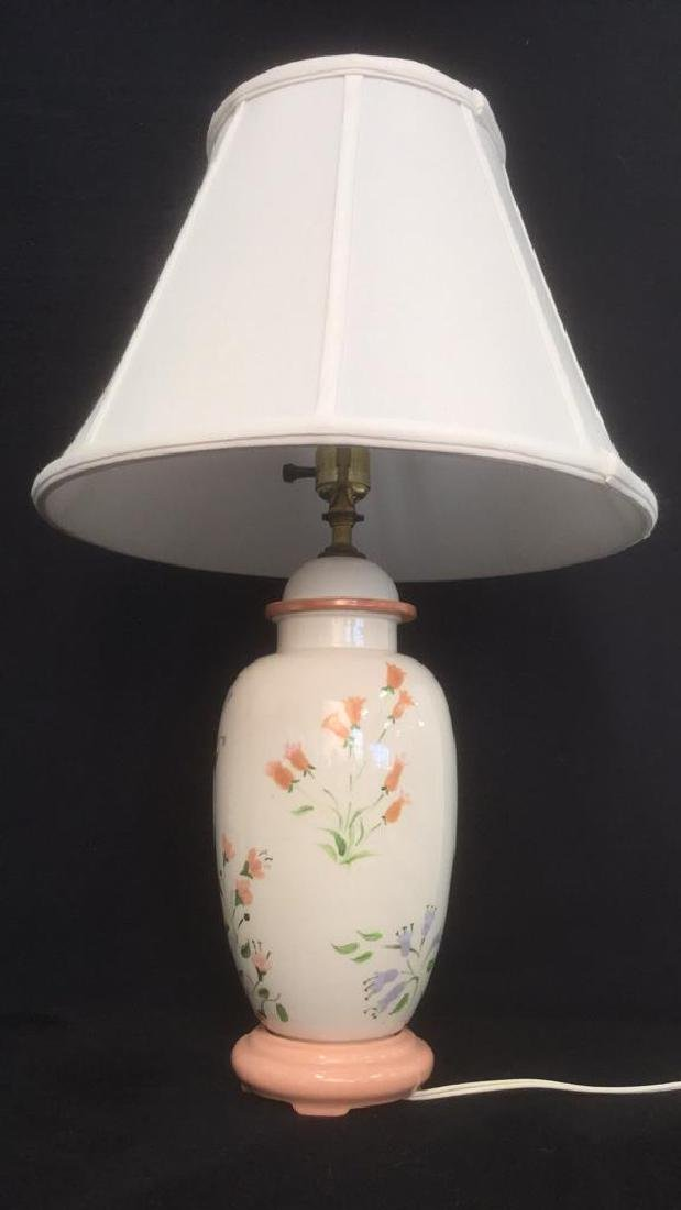 Hand Painted Ceramic Porcelain Table Lamp - 3