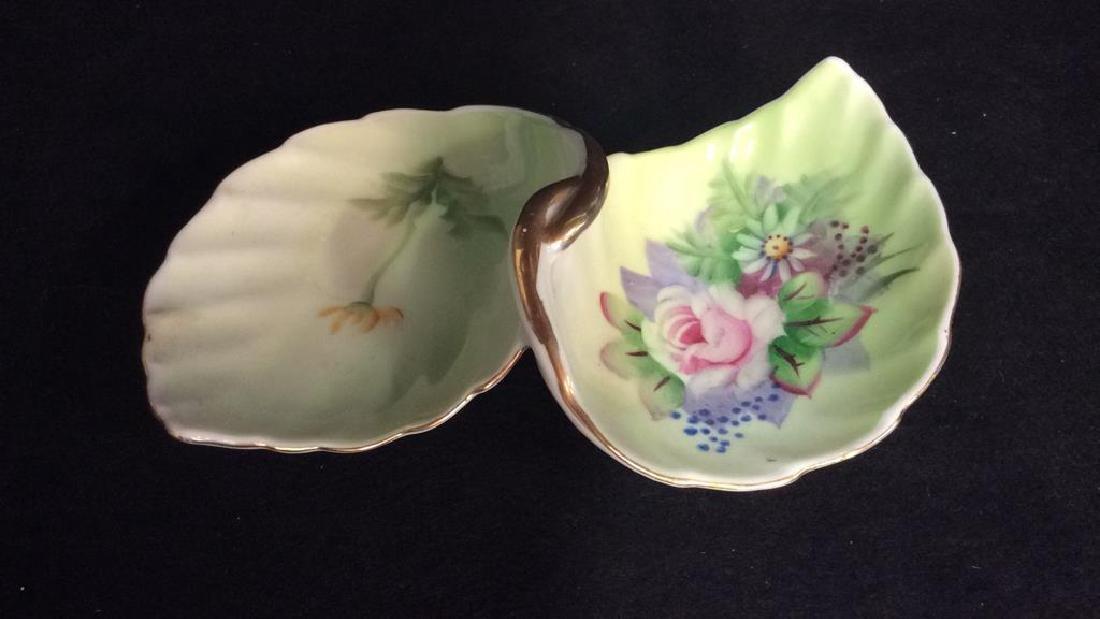 Lot 2 Painted Porcelain Tabletop Accessories - 3