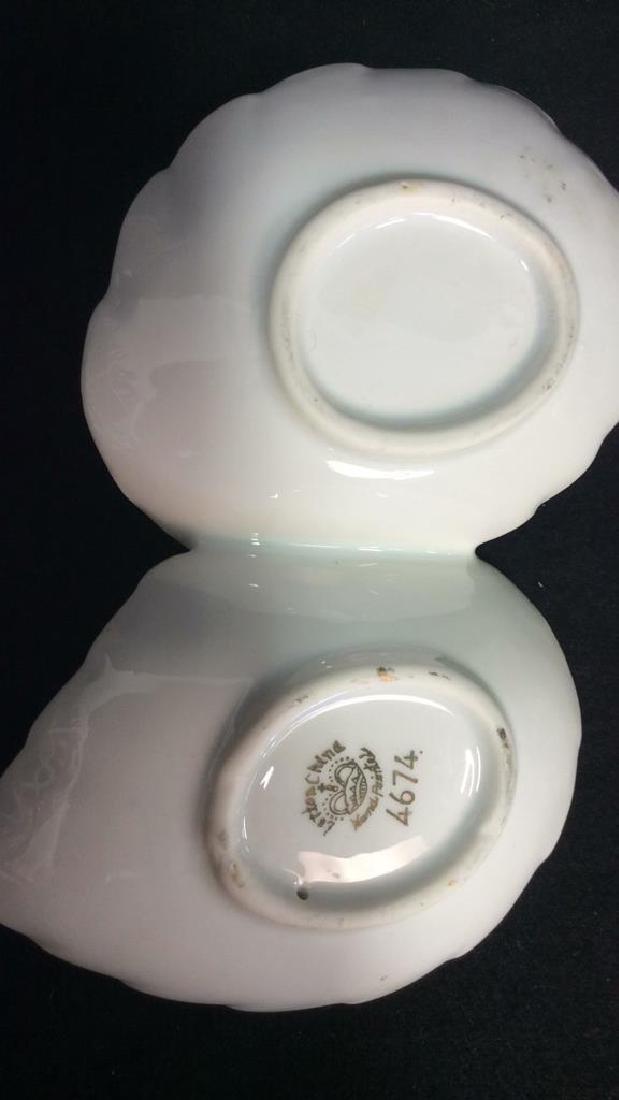Lot 2 Painted Porcelain Tabletop Accessories - 5