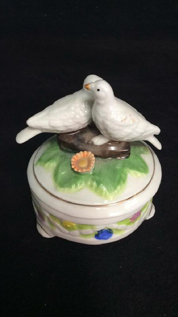 Lot 2 Painted Porcelain Tabletop Accessories - 7