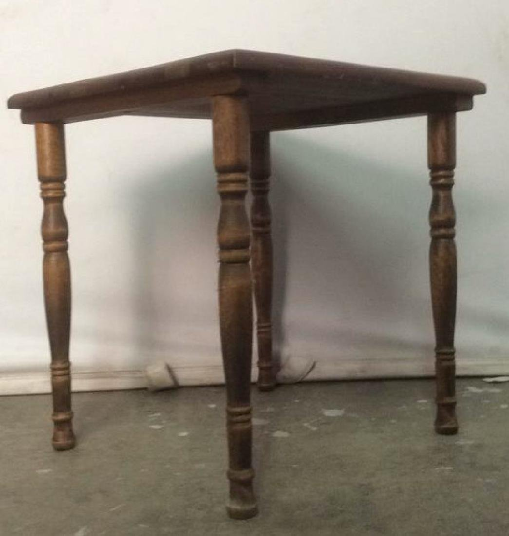Carved Wooden Side Table - 2